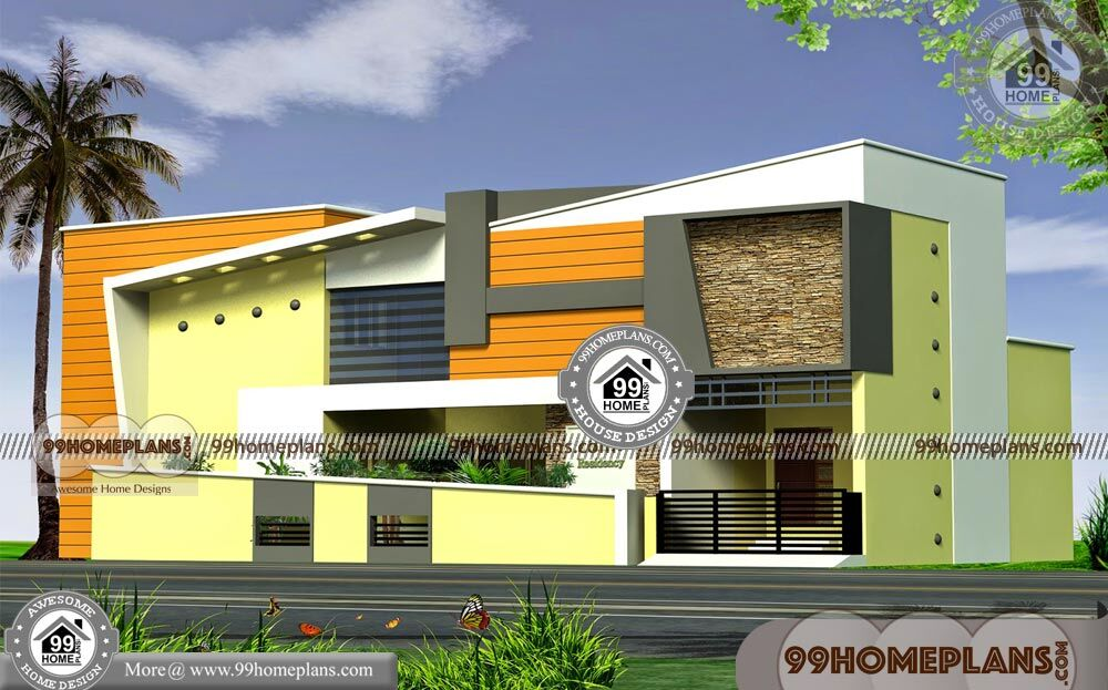 Front Design Of Small House In India Double Story Part - 38: Budget Of This House Is 52 Lakhs U2013 Indian House Front Elevation