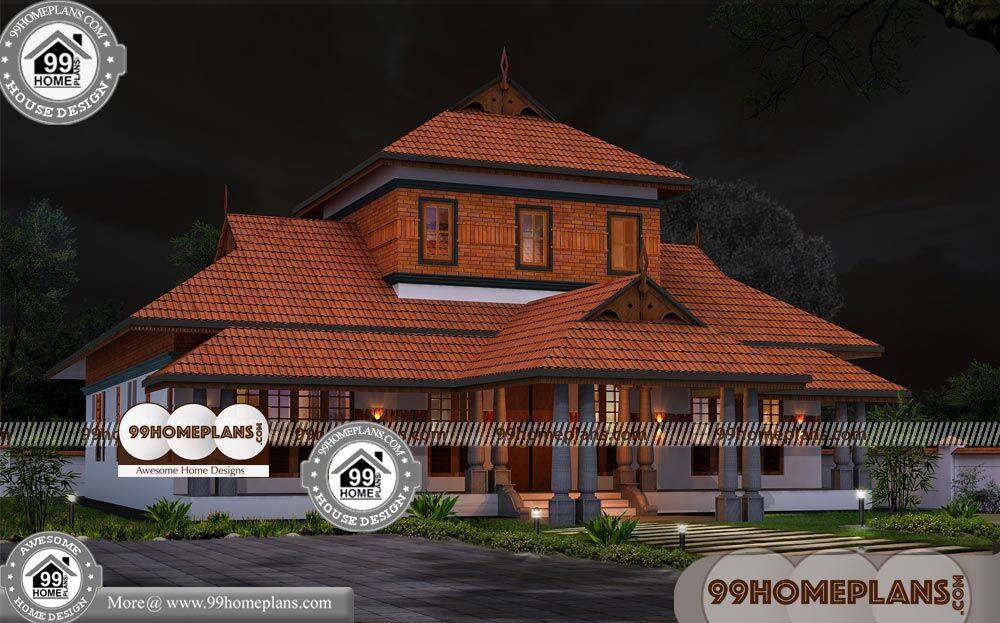 Kerala Nalukettu Style Home Plans Best One Story