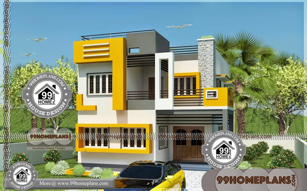 Lake home plans for narrow lots 77 luxury double storey for Narrow house plans india