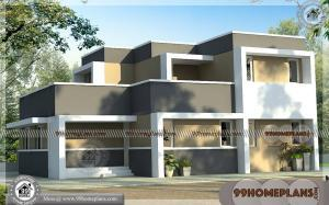 Latest Front Elevation Of Home Designs | 75+ 2 Floor Home Design Plans