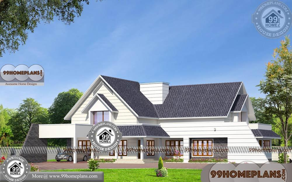 Latest Kerala Style Home Designs 90+ Modern House Two Storey Plans