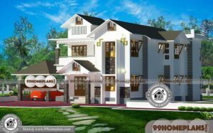Less Cost House Designs & 90+ Two Storey Small House Design Plans