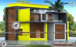 Long Narrow Home Plans | 50+ Two Storey Contemporary House Designs