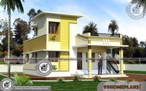 Low Cost Home Plans | One Floor Small House Plans with 3D Elevations