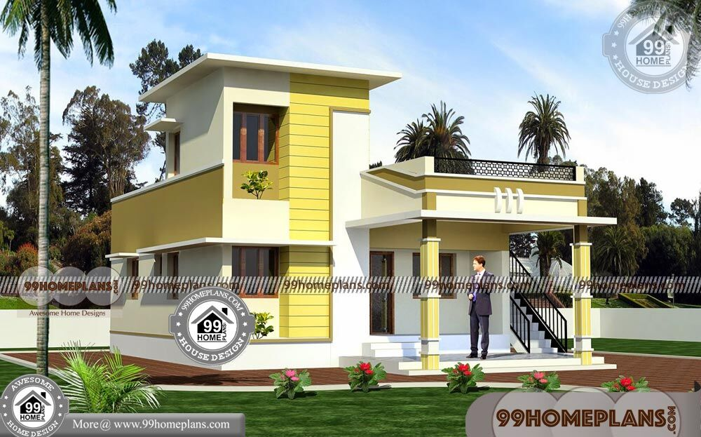 low cost home plans one floor small house plans with 3d elevations - 38+ Low Cost Small Narrow House Designs Pics
