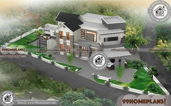 Modern Contemporary House Floor Plans | South Indian House Models