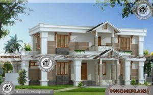 Modern House Plan Ideas | Two Story House Design With Foor Plan Ideas