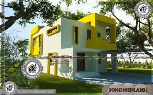 Modern Two Storey House 75+ Villa Plans And Elevations Online Designs