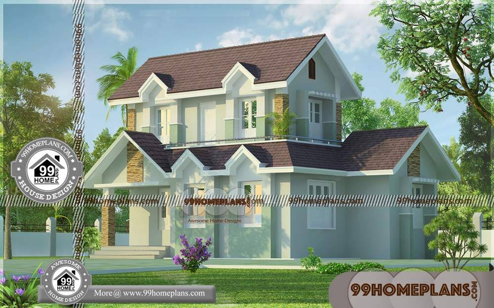 Modern Two Storey House Plans 75+ Simple And Low Cost ...