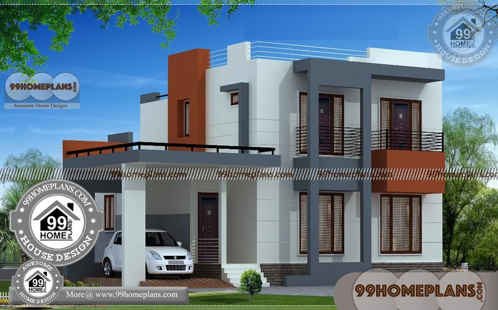 Narrow Homes Floor Plans | Best Double Storey House Design Collections