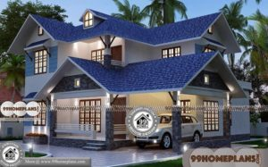 Narrow House Plans With Front Garage | 45+ Flat Roof House Designs