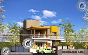 Narrow Lot Home Plans 70+ Two Storey House With Floor Plan Collections
