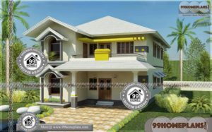 Narrow Lot Lake Home Plans 65+ Double Storey House Elevation Designs