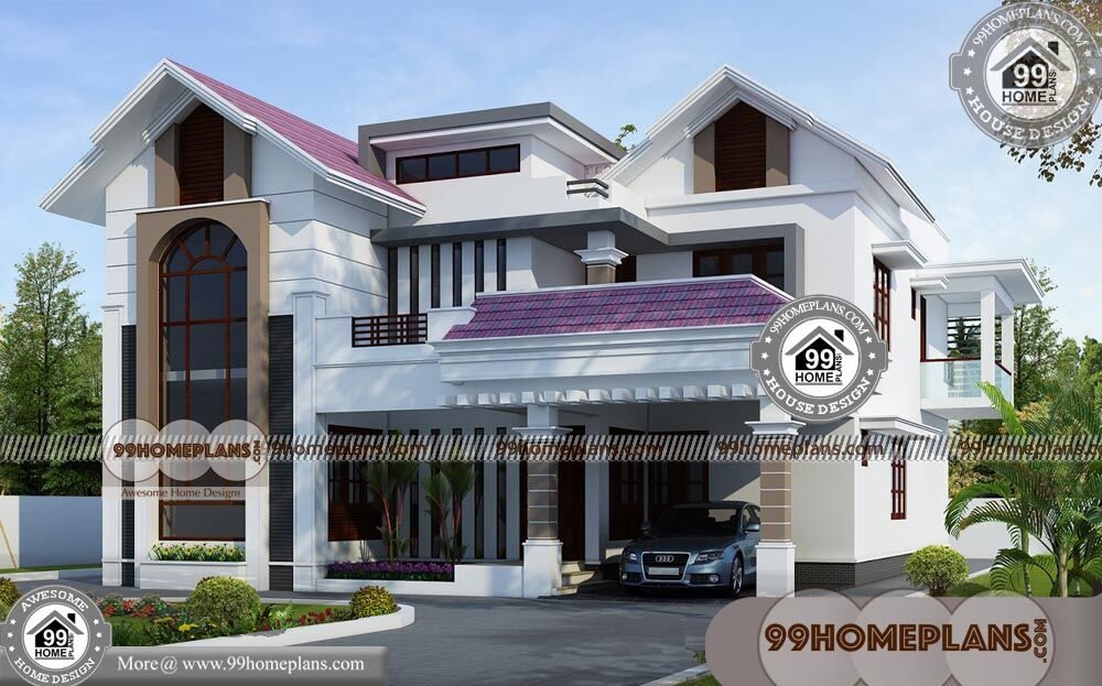New House Front Elevation Designs & Modern Double Story Houses