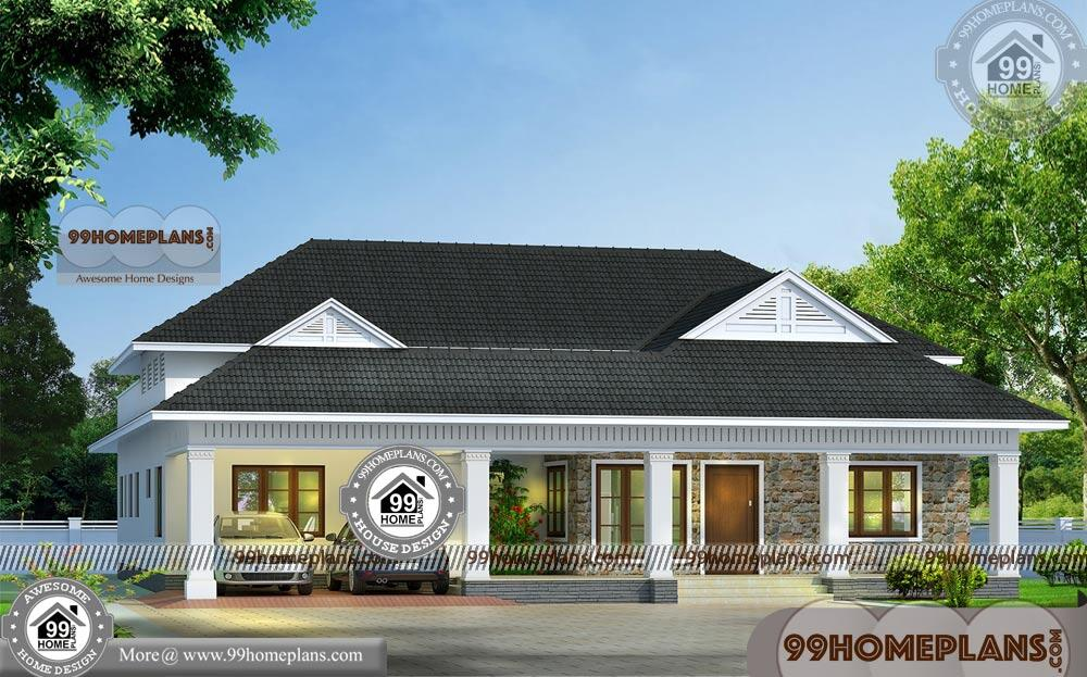 New Single House Design   90+ Traditional House Plans In Kerala Style