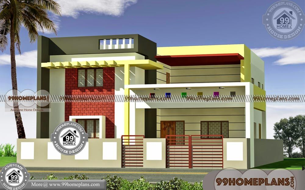 North Facing House Elevation 3d 2 Storey Modern House