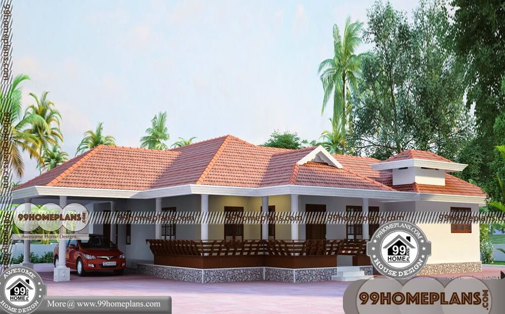 One bedroom cottage plans 45 low budget veedu plans in for Low cost kerala veedu plans
