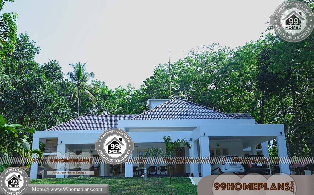 One Story Four Bedroom House Plans & 80+ Contemporary Kerala Homes