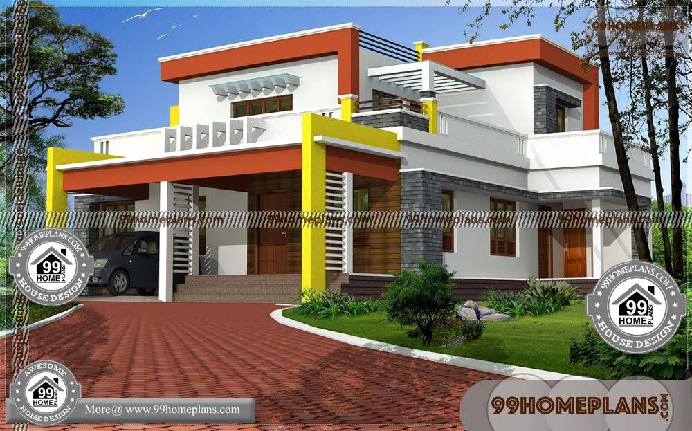 Open Floor Plans for Small Homes | 100+ Two Storey Small House Plans