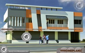 Shop With Living Quarters   65+ Modern Two Storey Homes Plan Designs