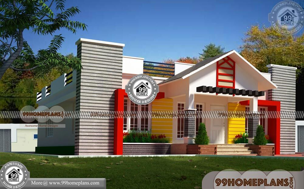 Single Floor Elevation with Less Cost House Designs 100+ New Plans