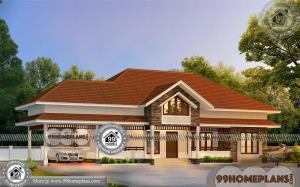 Single Floor Home Design Plans & 90+ Traditional Kerala House Designs