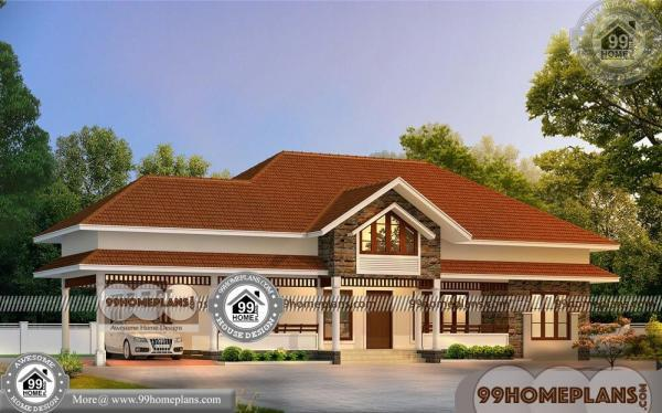 Single Floor Home Design Plans 90 Traditional Kerala