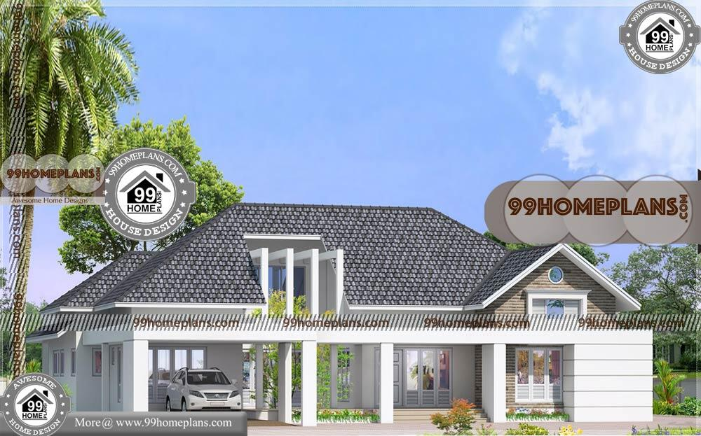 Single Story House Designs and Floor Plans | 90+ Traditional House Plans