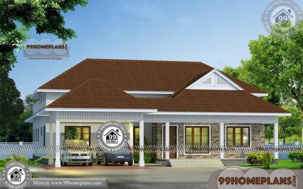 Single Story House Front Design 60 Kerala Traditional