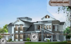 South West Facing House Plan with 3D Front Elevation Design Collections