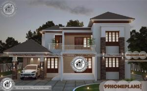 Two Storey Homes With Balcony | 45+ Contemporary House Design Plans