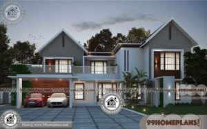 Two Storey House Design With Terrace | 50+ Modern Home Floor Plans