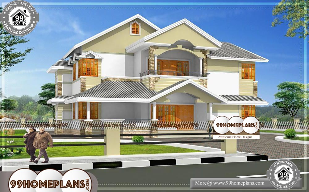 2 Storey House Plans For Narrow Blocks - 2 Story 3700 sqft-Home