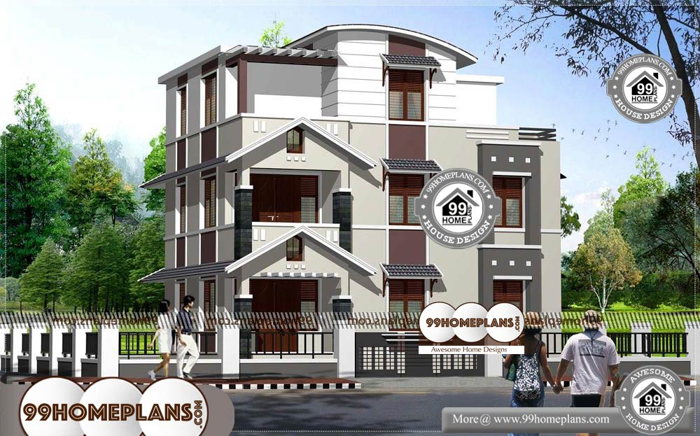 3 Storey House Design Collections 90+ Kerala Contemporary Homes