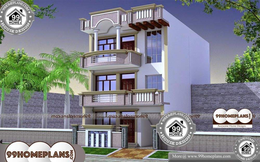 3 Story House Plans for Narrow Lot - 3 Story 3150 sqft-HOME