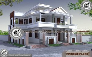 50 Wide House Plans | 90+ South Indian House Architecture 2 Storey Plan