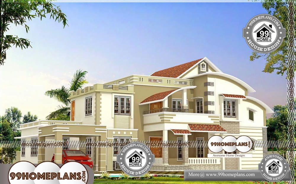 Beautiful Front Elevation of Houses - 2 Story 3500 sqft-Home