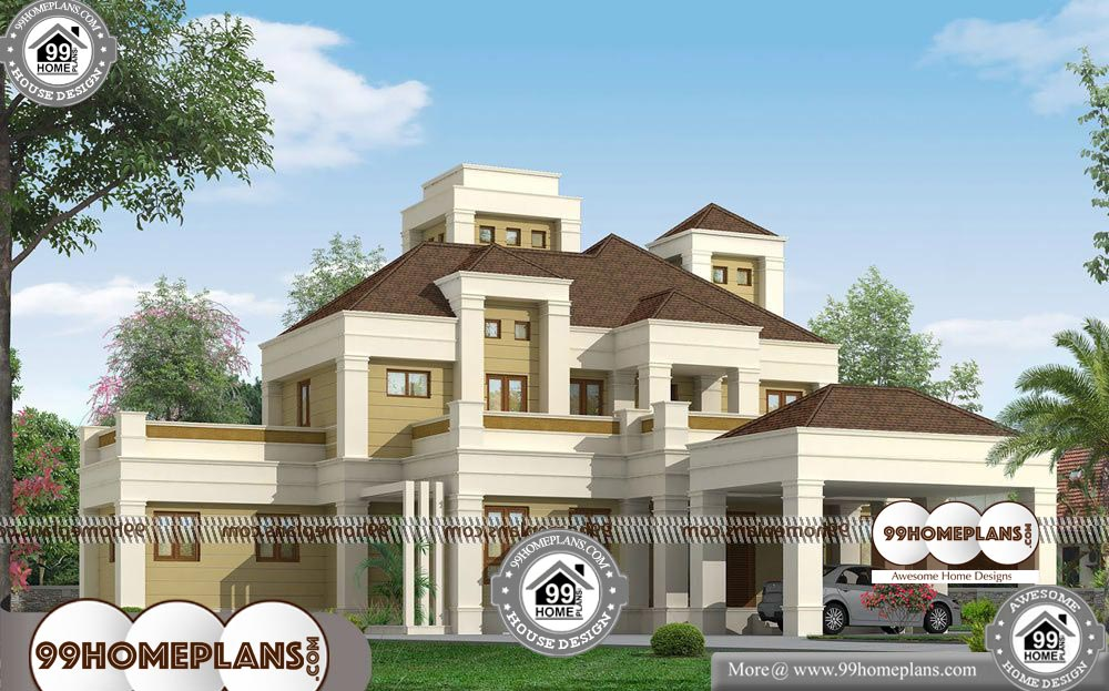 Bungalow House Plans with Photos - 2 Story 3200 sqft-Home