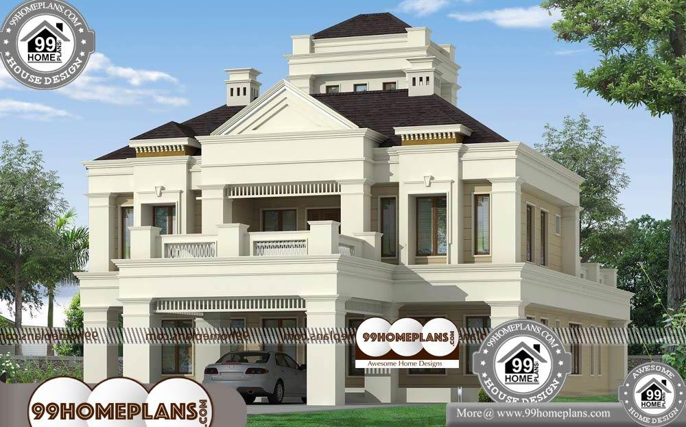 Bungalow Plan and Elevation - 2 Story 3000 sqft-Home