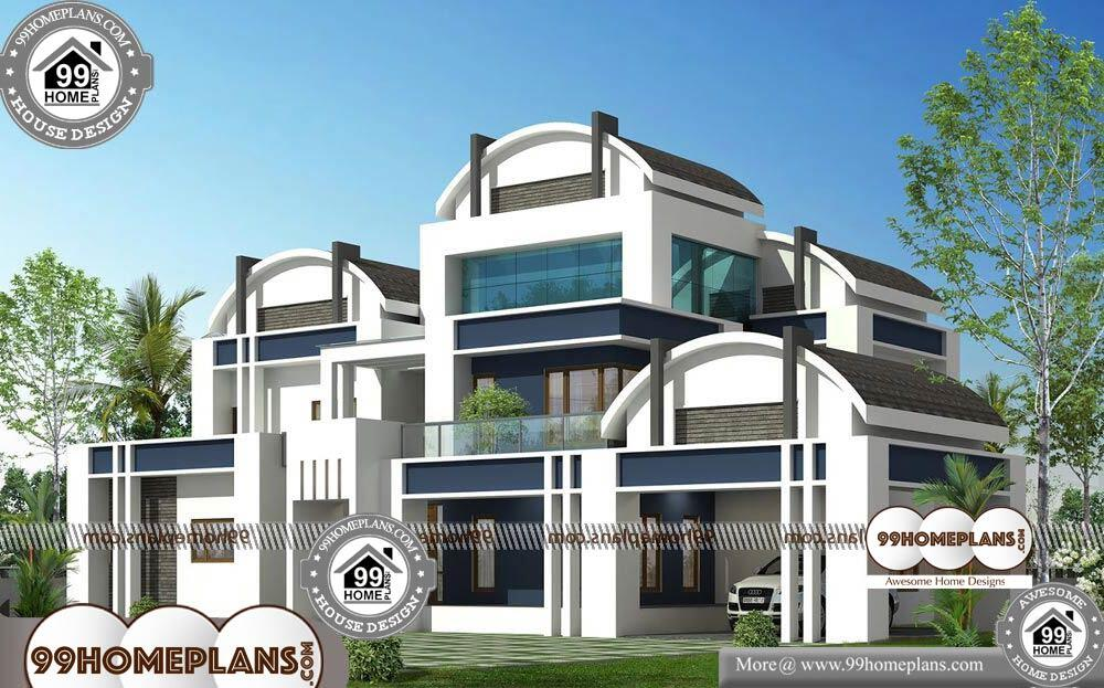 Contemporary Cabin Plans - 2 Story 4181 sqft-HOME