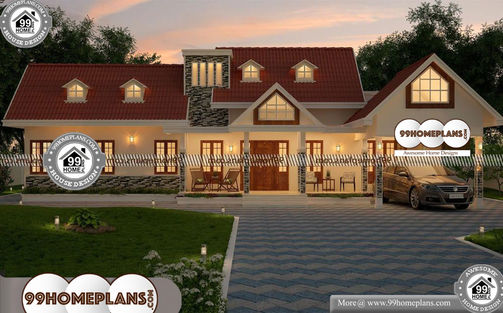 Four Bedroom Single Story House Plans - One Story 2530 sqft-Home