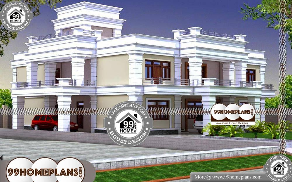 Free Duplex House Plans Indian Style - 2 Story 7000 sqft-HOME