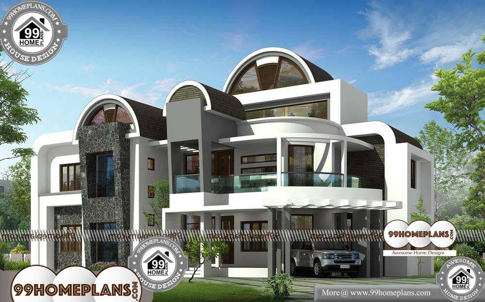 Free House Designs Indian Style - 2 Story 3964 sqft-Home