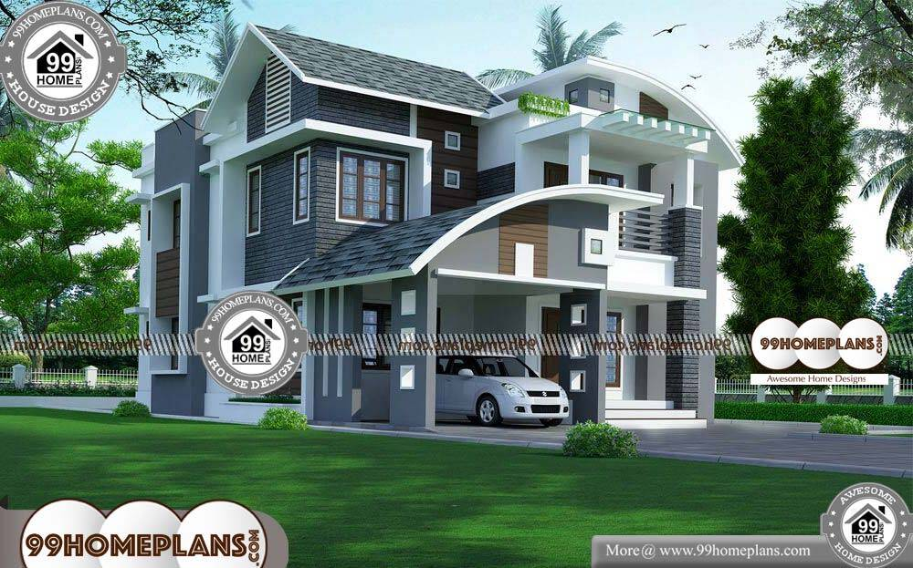 Free Indian House Plans and Designs - 2 Story 2410 sqft-Home