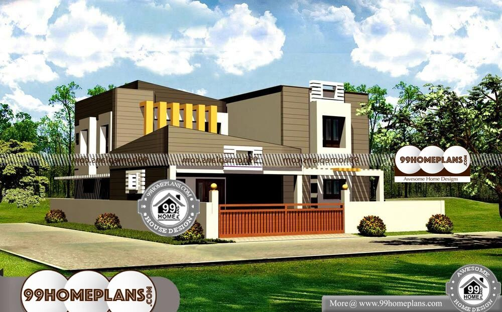 Front Elevation Duplex House 55 Two Storey House Plan And