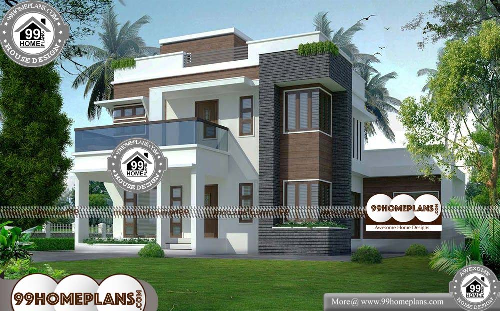 Indian Elevation Designs of Houses - 2 Story 2540 sqft-Home