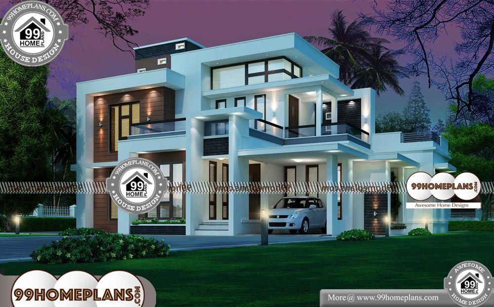 Indian Front House Design - 2 Story 2215 sqft-Home