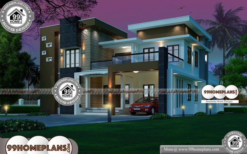 Indian Home Plans with Photos - 2 Story 3727 sqft-Home