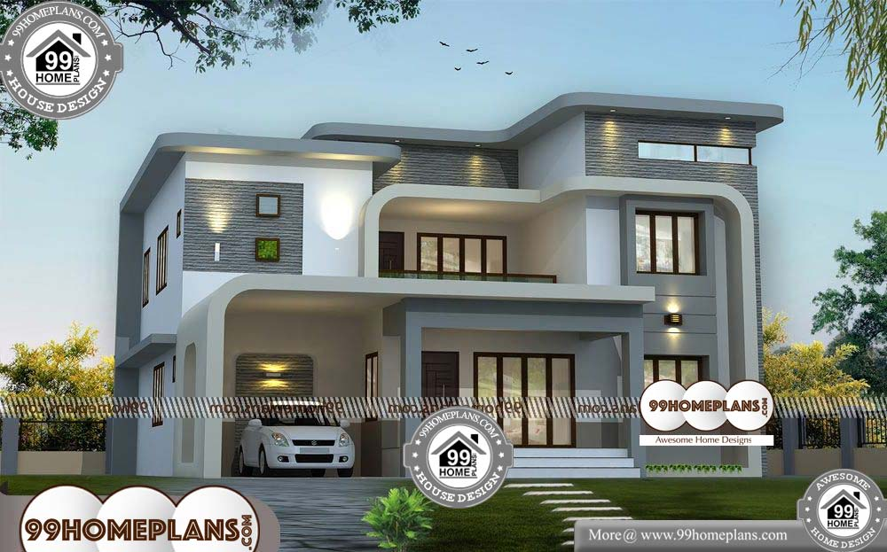 Indian House Design Plans - 2 Story 3064 sqft-Home