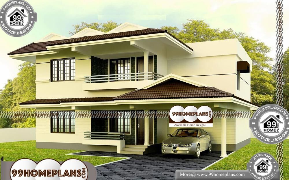Indian House Plan Elevation - 2 Story 1900 sqft-HOME